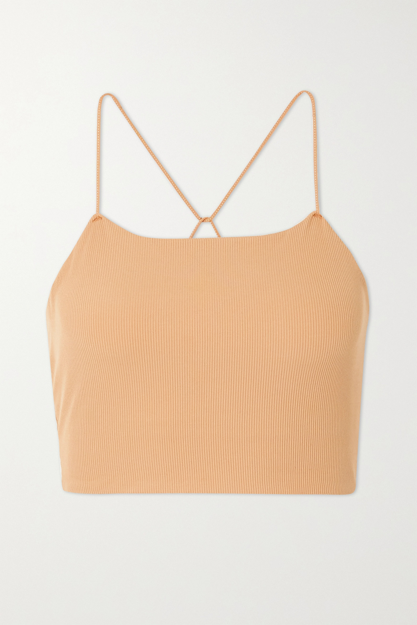 NIKE - Yoga Luxe Cropped Ribbed Infinalon Dri-fit Tank - Neutrals - medium