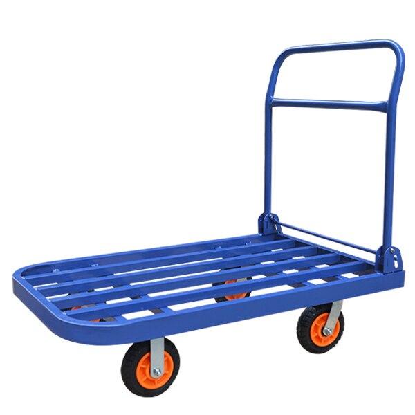 摺疊平板車推貨車小拉貨手推車拖車四輪搬運載重王家用便攜小拉車ATF