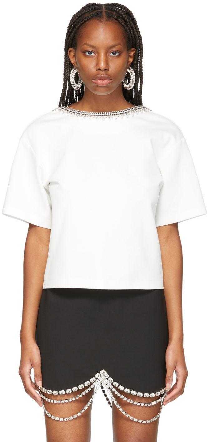 AREA 白色露背 T 恤
