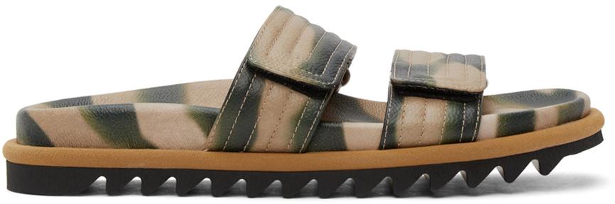 Dries Van Noten 米色 & 军绿色迷彩凉鞋