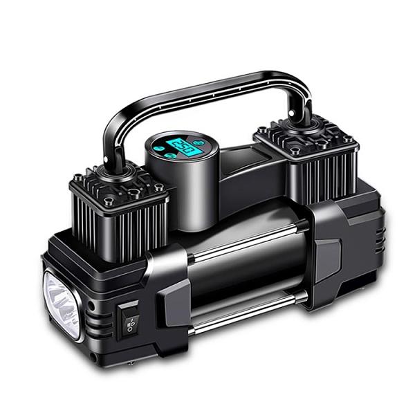 車載充氣泵打氣泵汽車用小型便攜式轎車電動輪胎12V雙缸高壓氣泵 青木鋪子「快速出貨」
