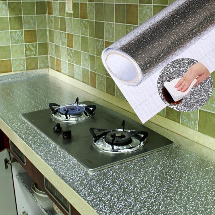 自黏防油貼衛生間牆面裝飾餐廳桌面貼紙廚房廚櫃防水防潮防霉牆貼ATF
