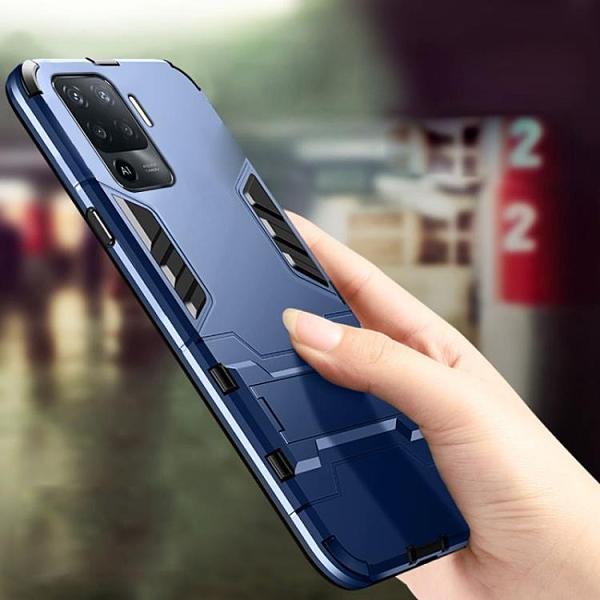 OPPO RENO 5Z A94 手機殼 保護殻 指環支架 鋼鐵俠手機殼 全包邊防摔 二合一 防撞防滑 自帶支架 硬殼
