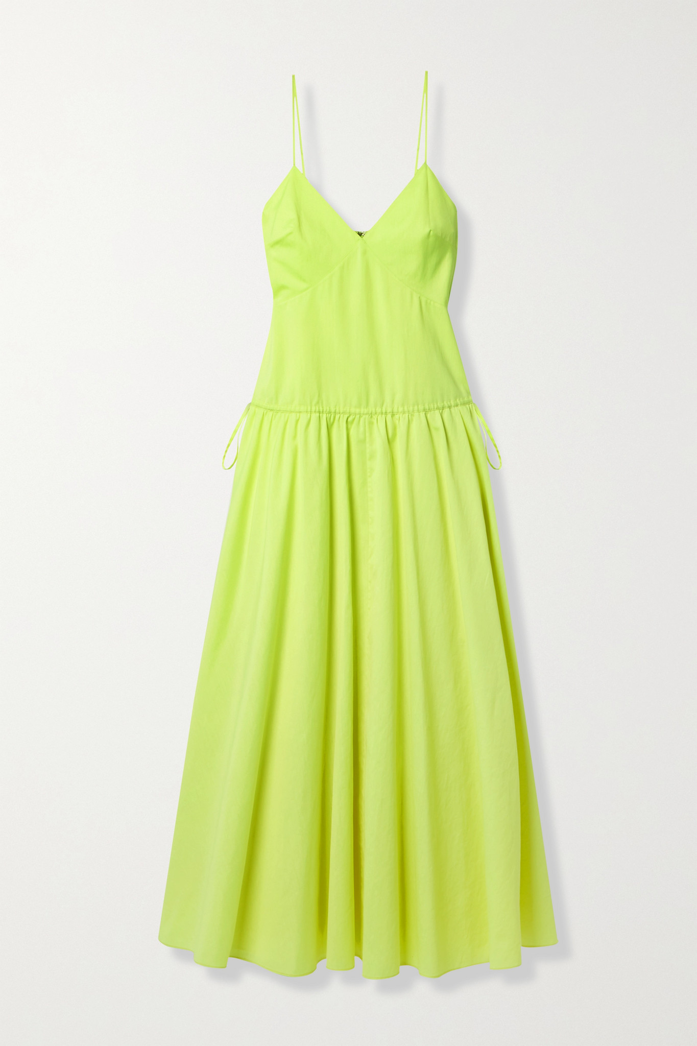JASON WU - Tie-detailed Poplin Maxi Dress - Yellow - US2