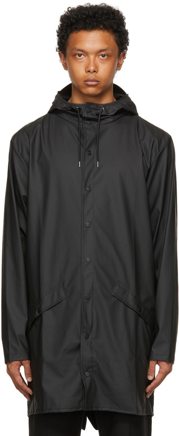 RAINS 黑色 Long 大衣