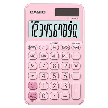 【CASIO 】10位元浪漫馬卡龍口袋型計算機-草莓粉 (SL-310UC-PK)