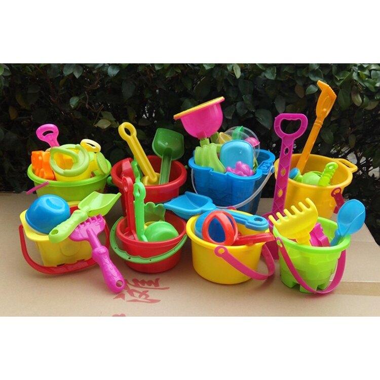熱銷新品 兒童沙灘玩具套裝 大號寶寶玩沙子挖沙 漏鏟子工具 決明子玩具沙灘桶