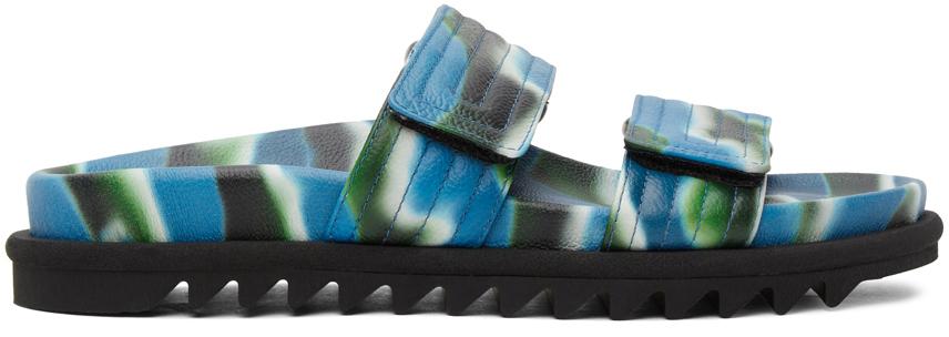 Dries Van Noten 蓝色迷彩凉鞋