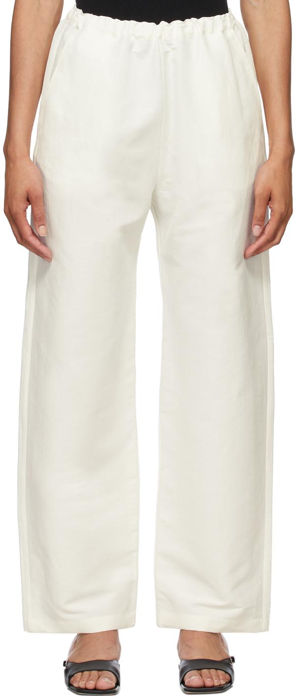 Totême 白色弹性长裤