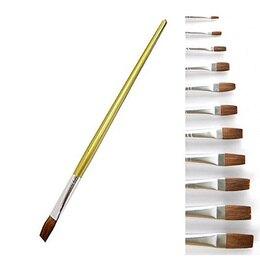 【618購物節 最低五折起】中華水彩畫筆平頭(短桿) A1 0號
