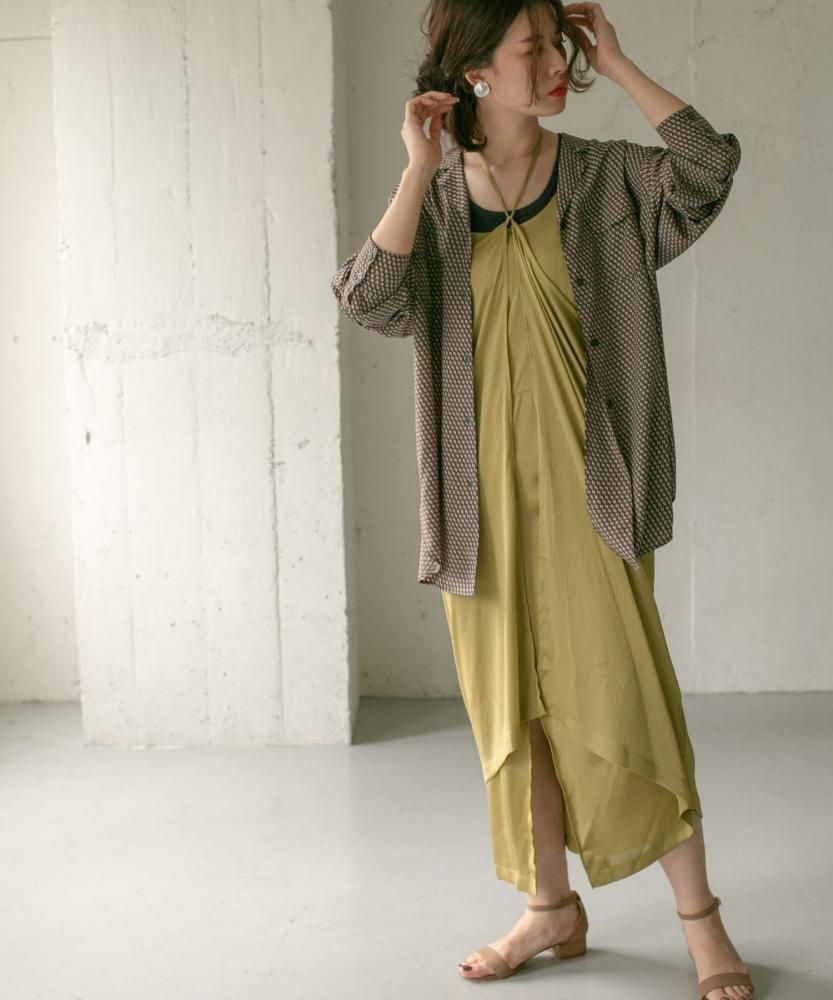 圍裹設計細肩帶洋裝(KB06-26V040)