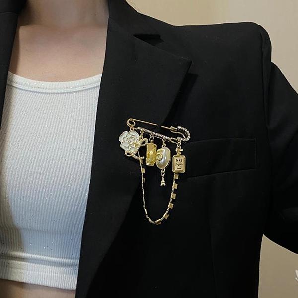 復古大衣胸針女ins潮小香風大氣高檔胸花時尚氣質個性小眾別針 韓美e站