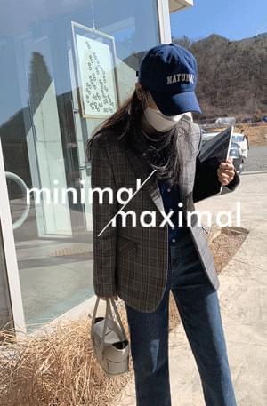韓國空運 - 《Premium Planning Jacket》MMMM/ Gracie Check Tailored Jacket 夾克