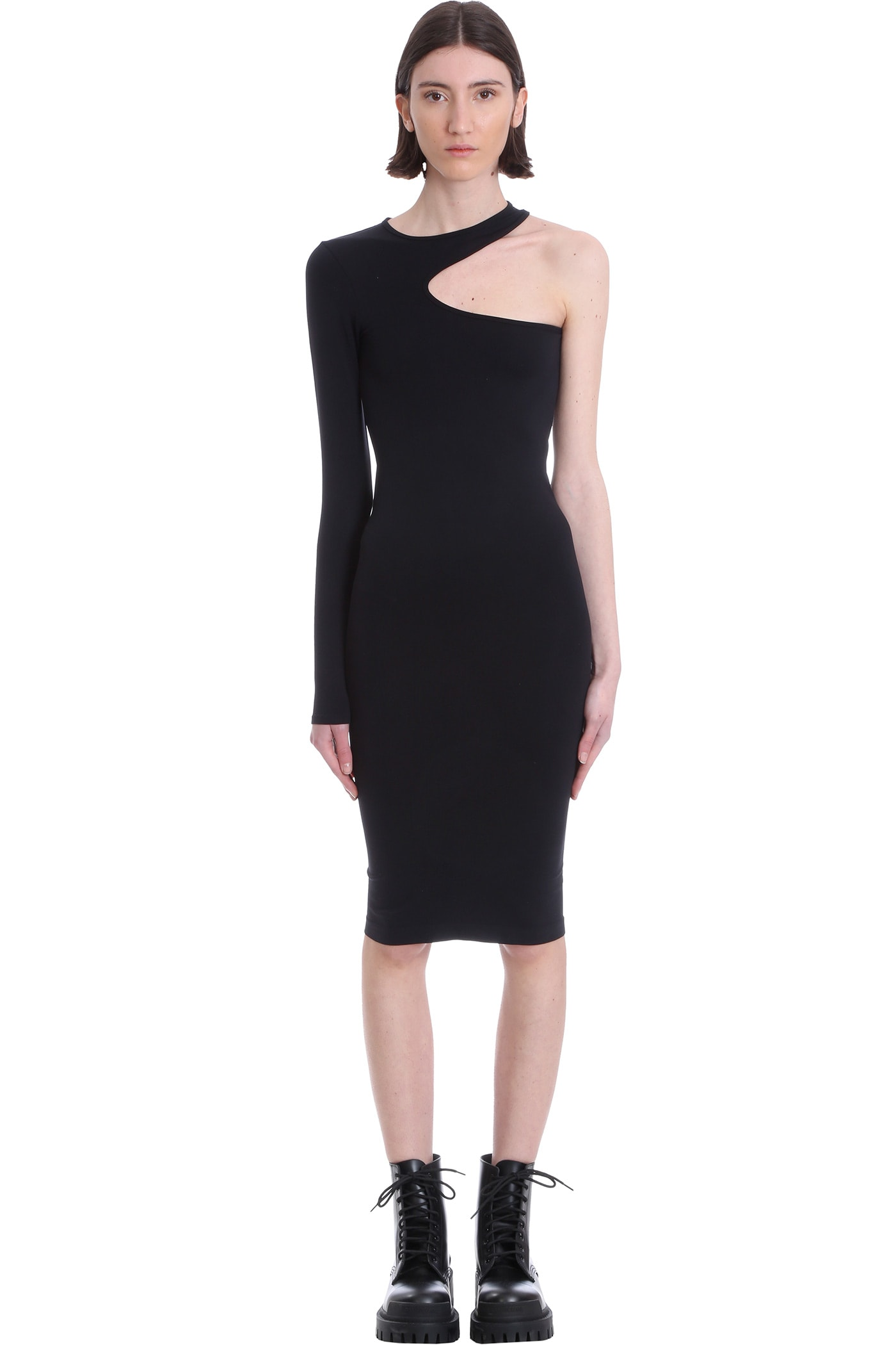 Helmut Lang Dress In Black Nylon