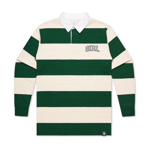 Girl Arch Striped Rugby 長袖Polo衫《 Jimi 》