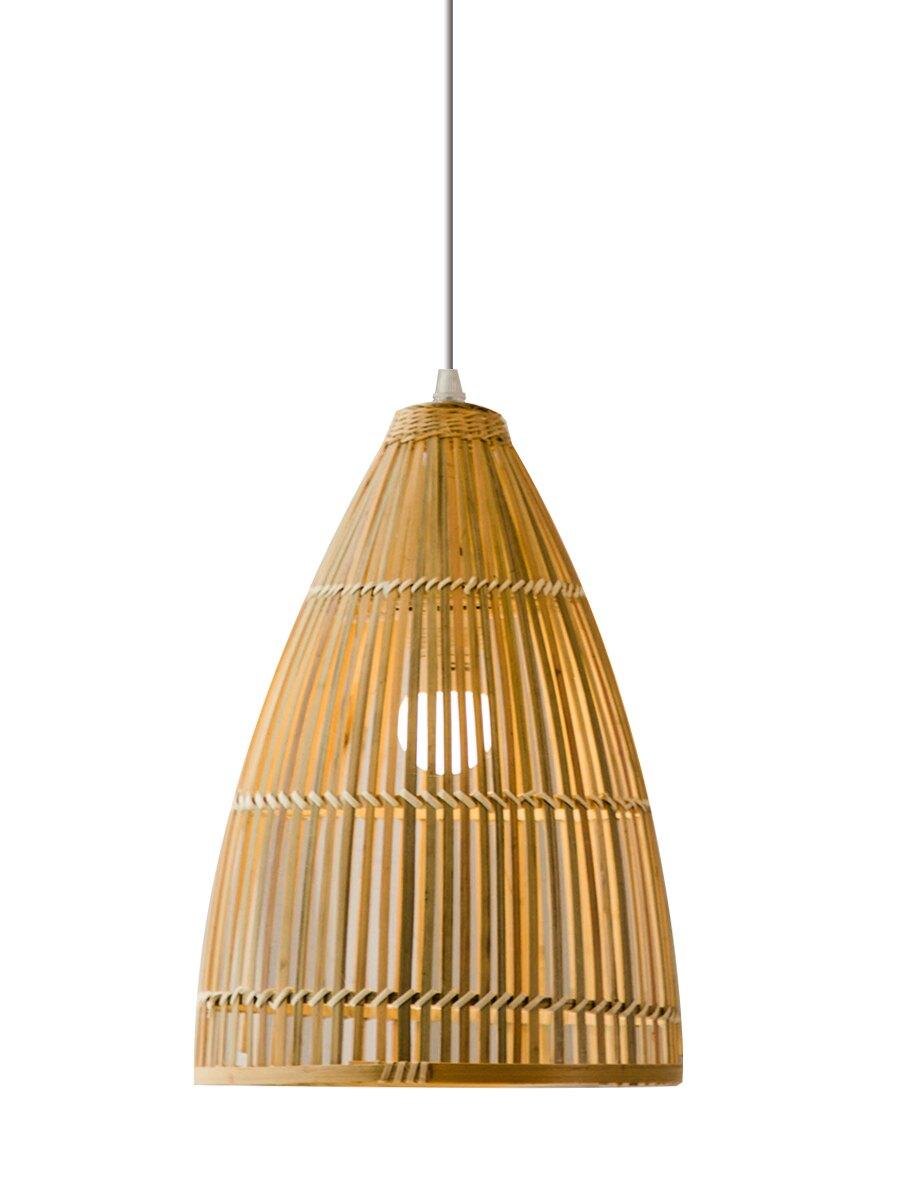 進口吊燈竹編創意個性田園餐廳飯店臥室陽臺茶樓燈籠榻榻米吊燈具