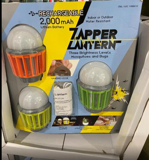 [COSCO代購] C1480614 WISELY ZAPPER LANTERN 3PK 充電式滅蚊露營燈三入組  IPX6防水三段亮度