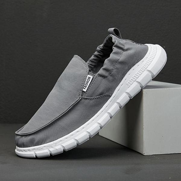 帆布鞋 夏季新款老北京布鞋休閒韓版帆布鞋懶人軟底一腳蹬春季男鞋百搭潮