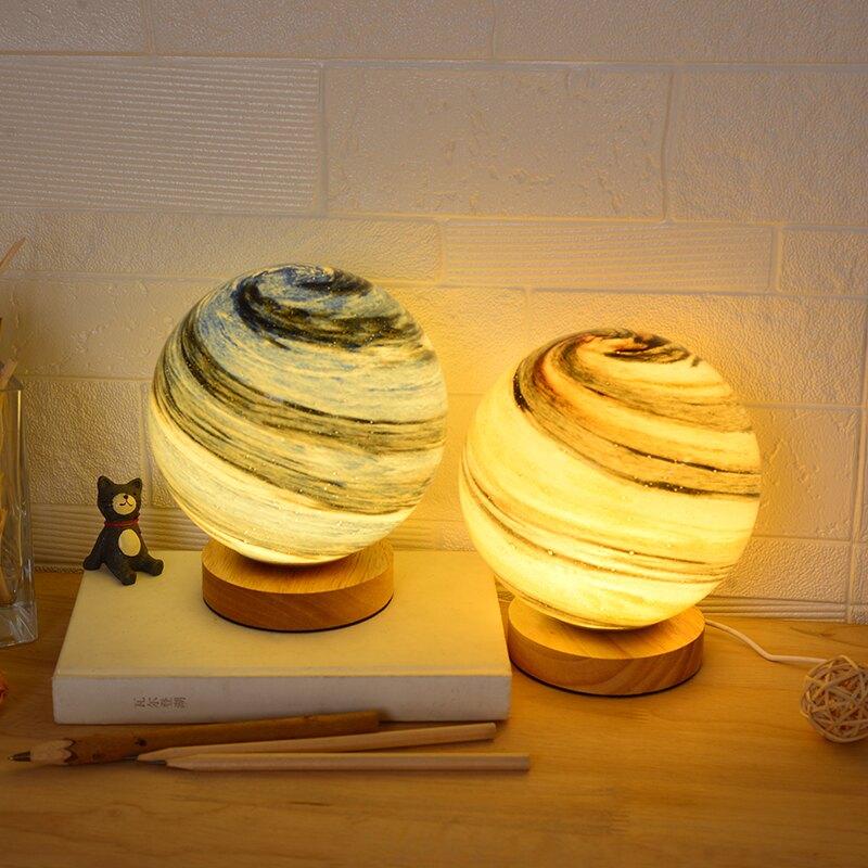 星空星球燈創意月亮燈個性氛圍臺燈網紅臥室ins少女裝飾床頭夜燈