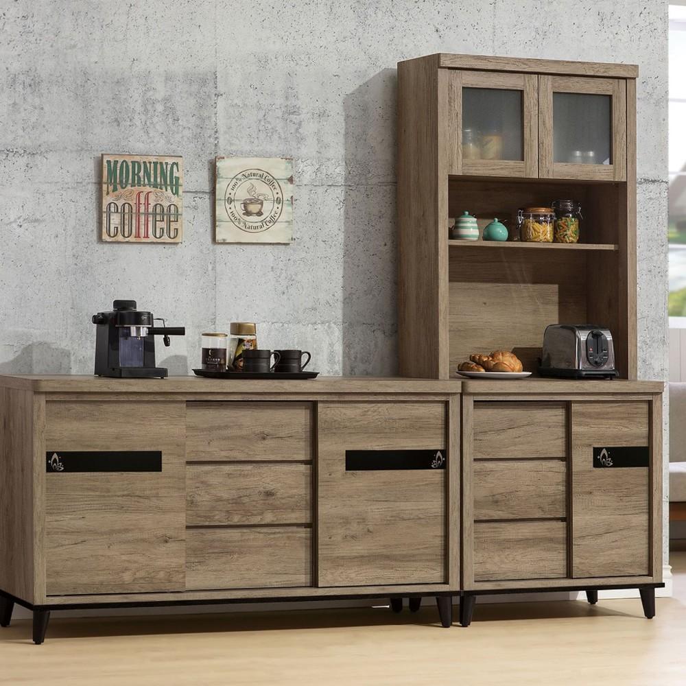 236cm組合餐櫃-a607-2伸縮餐桌櫃  尺餐櫃收納 廚房櫃 餐櫥碗盤架 中島大理石 金滿屋