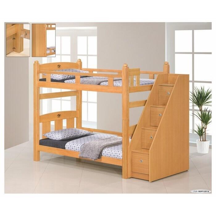 新精品af-607-1 葛萊美檜木3.5尺雙層床組(全組) (不含床墊)(可拆賣) 台北到高雄滿
