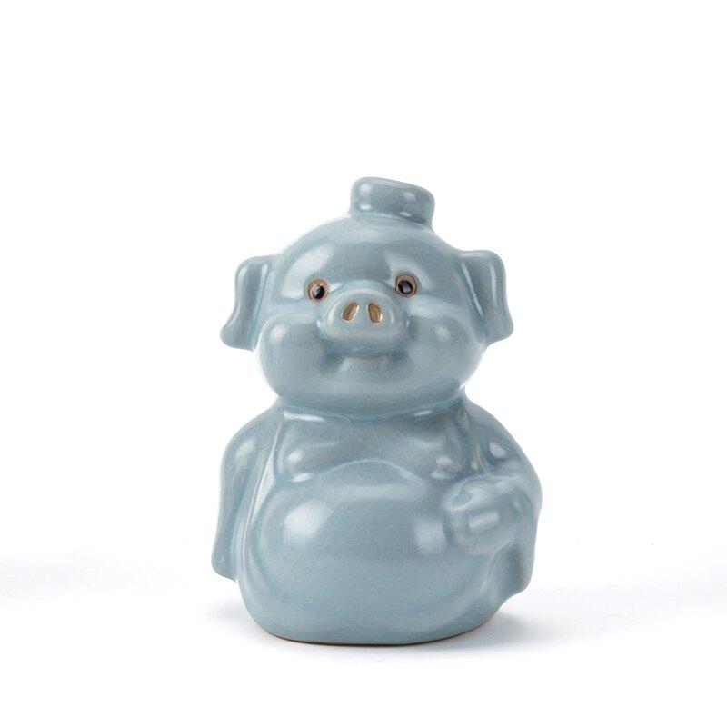 汝窯茶寵擺件可養福豬招財擺件茶具茶桌茶臺陶瓷茶藝茶道小茶玩