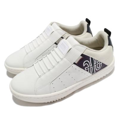 Royal Elastics 休閒鞋 Icon 2 套腳 穿搭 男鞋 基本款 皮革 舒適 簡約 質感 米白 紫 06512065