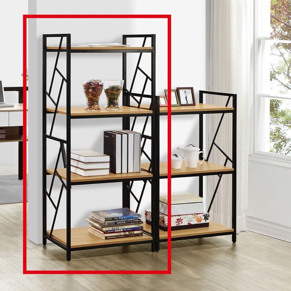 60cm開放書架-a534-2北歐工業 置物櫃 玻璃實木 書房書櫃書架 櫥櫃 層架收納整理 金滿屋