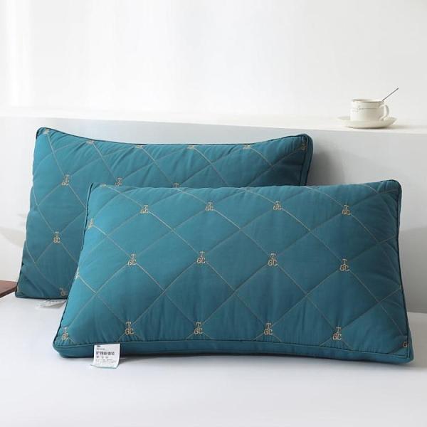 一對裝】酒店家用護頸羽絲絨水洗枕頭枕芯單雙人家用酒店枕芯一對 青木鋪子「快速出貨」