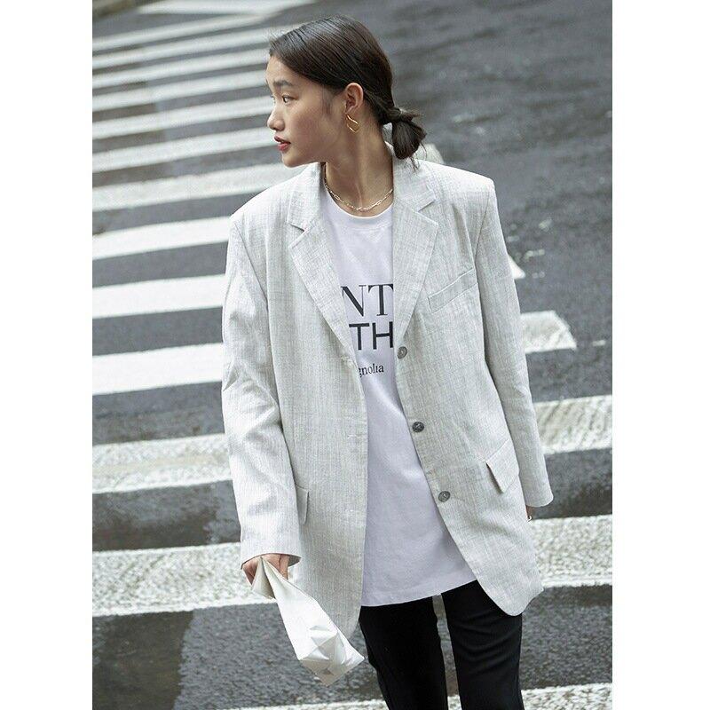 2021春季新款寬鬆休閒韓版西裝女通勤時尚西服外套