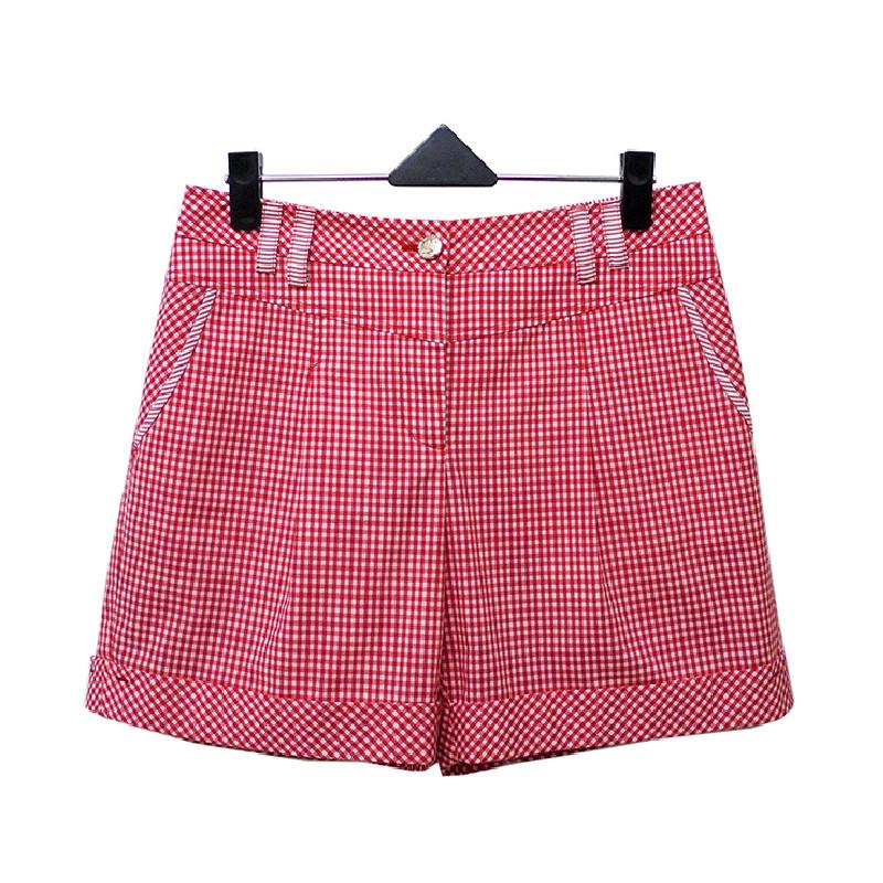 非常衣著 amor紅白小格紋短褲