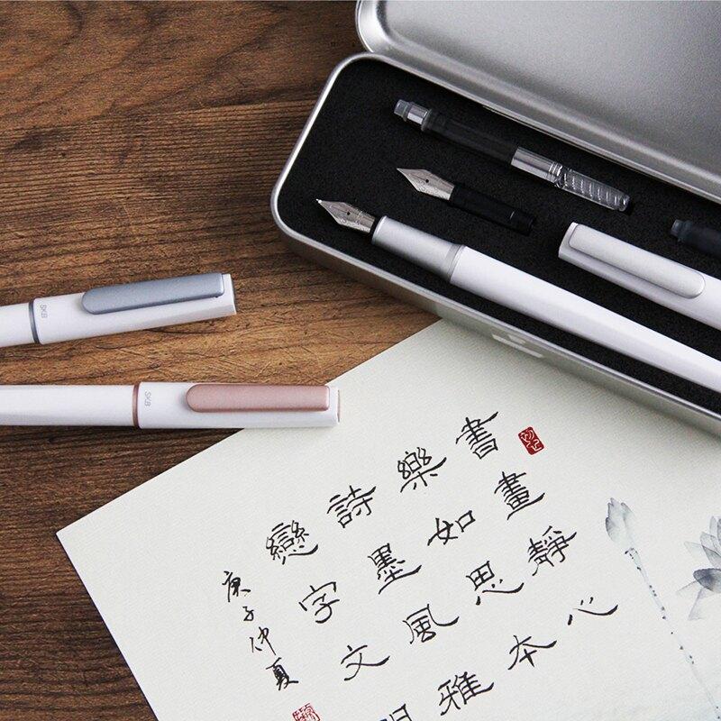 SKB 文明 書法尖鋼筆(星河銀、玫瑰金、冰滴藍) /支 RS-901C