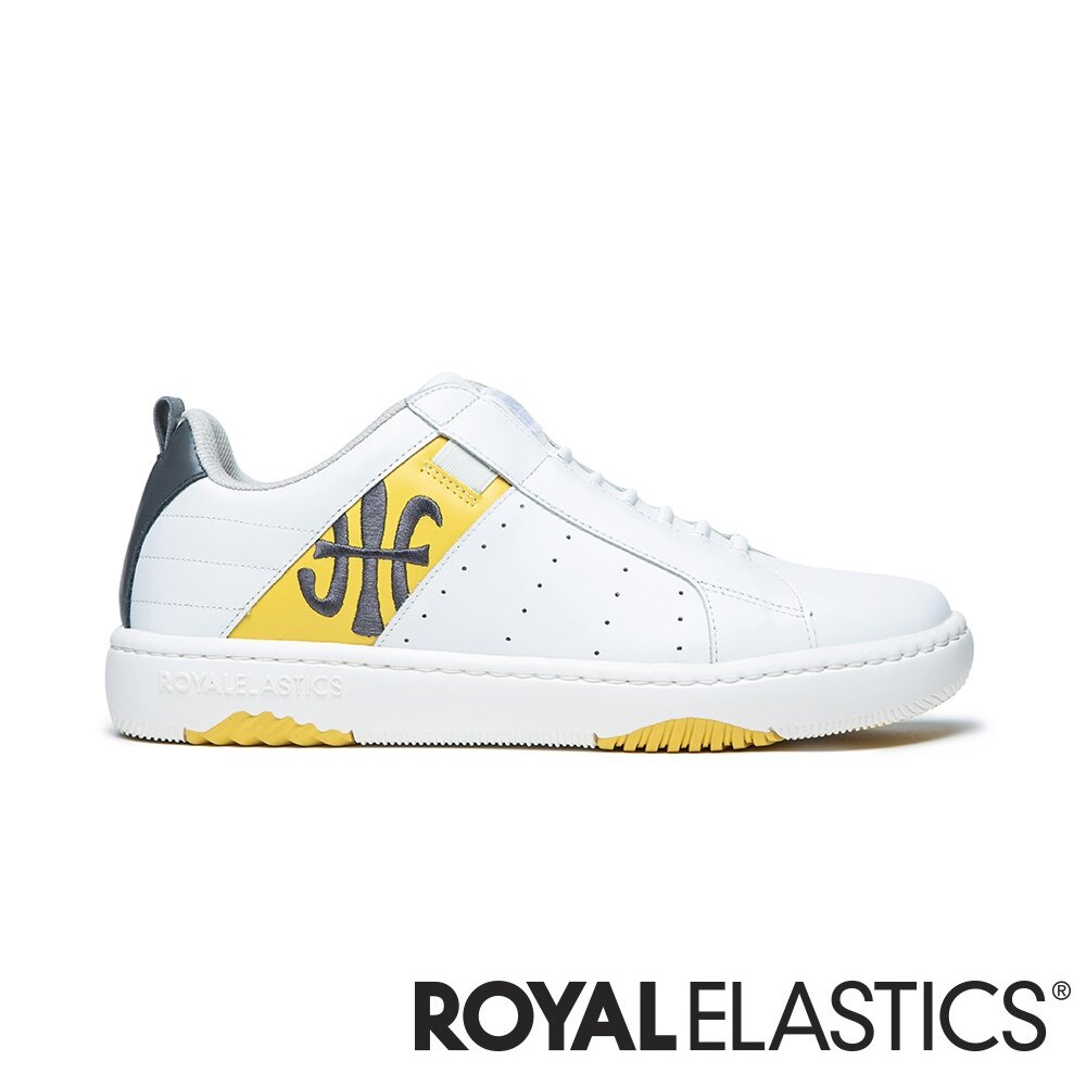 ROYAL ELASTICS ICON2.0 白黃灰真皮潮流運動休閒鞋 (男) 06512-038