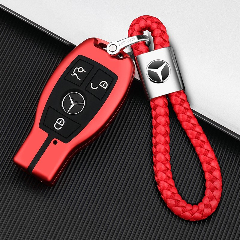 賓士汽車鑰匙套E級e300l C260L C200L A200L E260 GLK GLC殼扣包1 愛尚優品