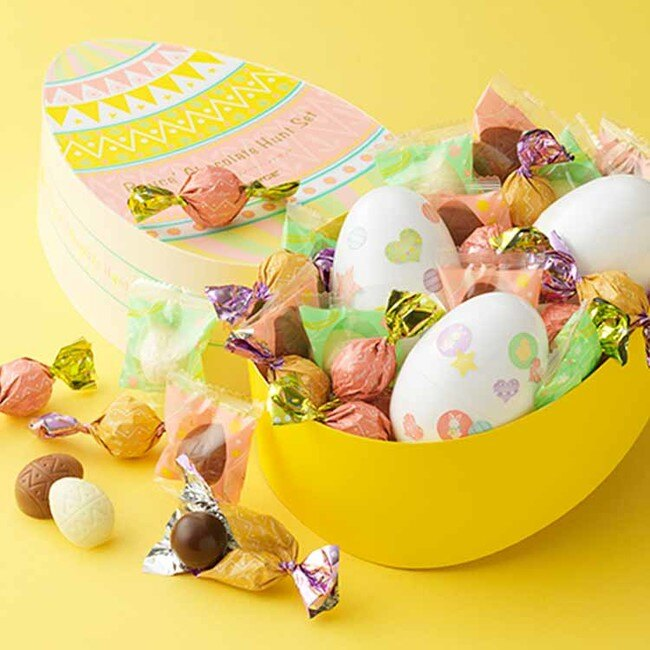 Ariel Wish日本北海道ROYCE彩蛋立體雞蛋造型巧克力威化夾心脆菓餅乾-春季櫻花季復活節限量版綜合禮盒組-最後1