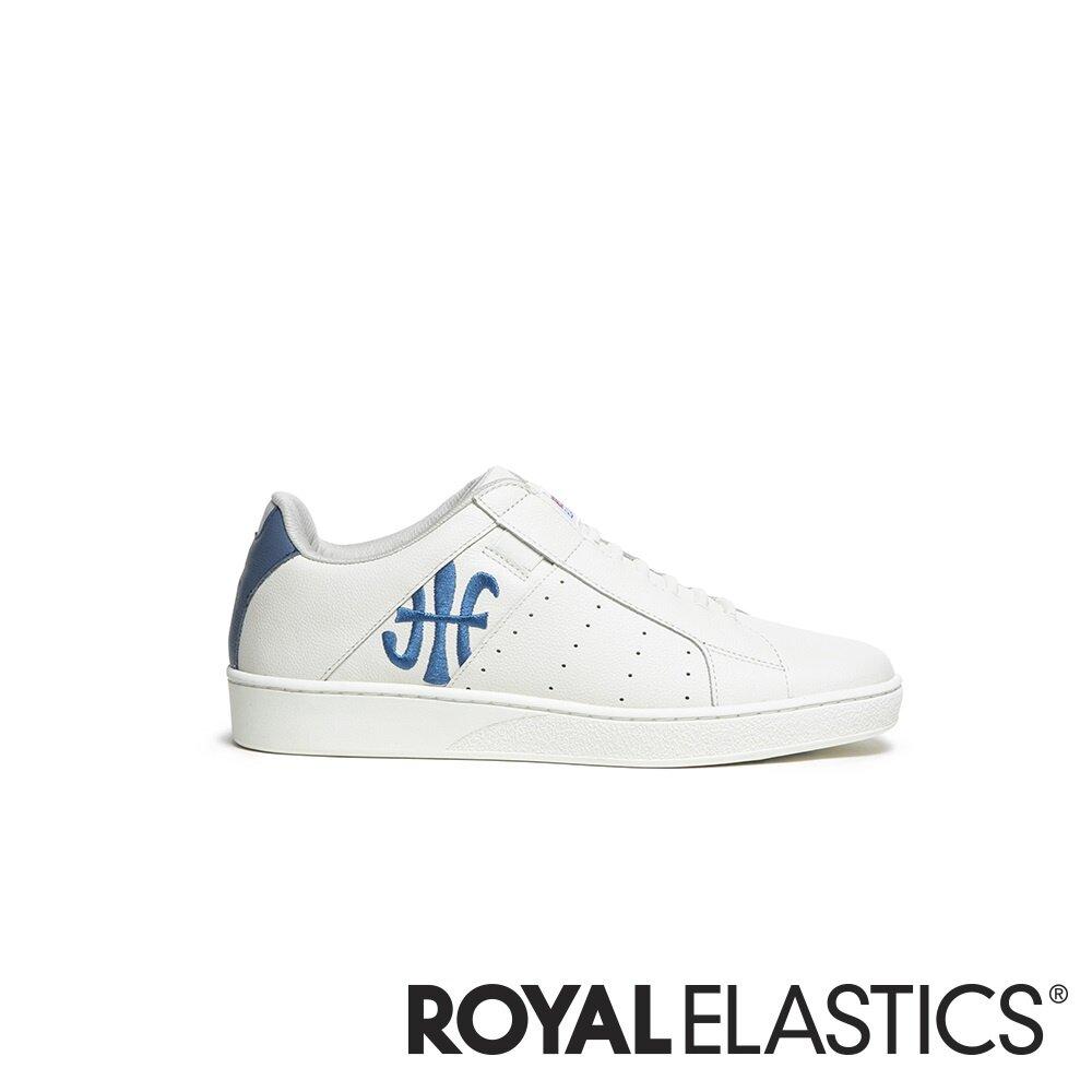 ROYAL ELASTICS ICON 米白藍真皮運動休閒鞋 (男) 01903-015