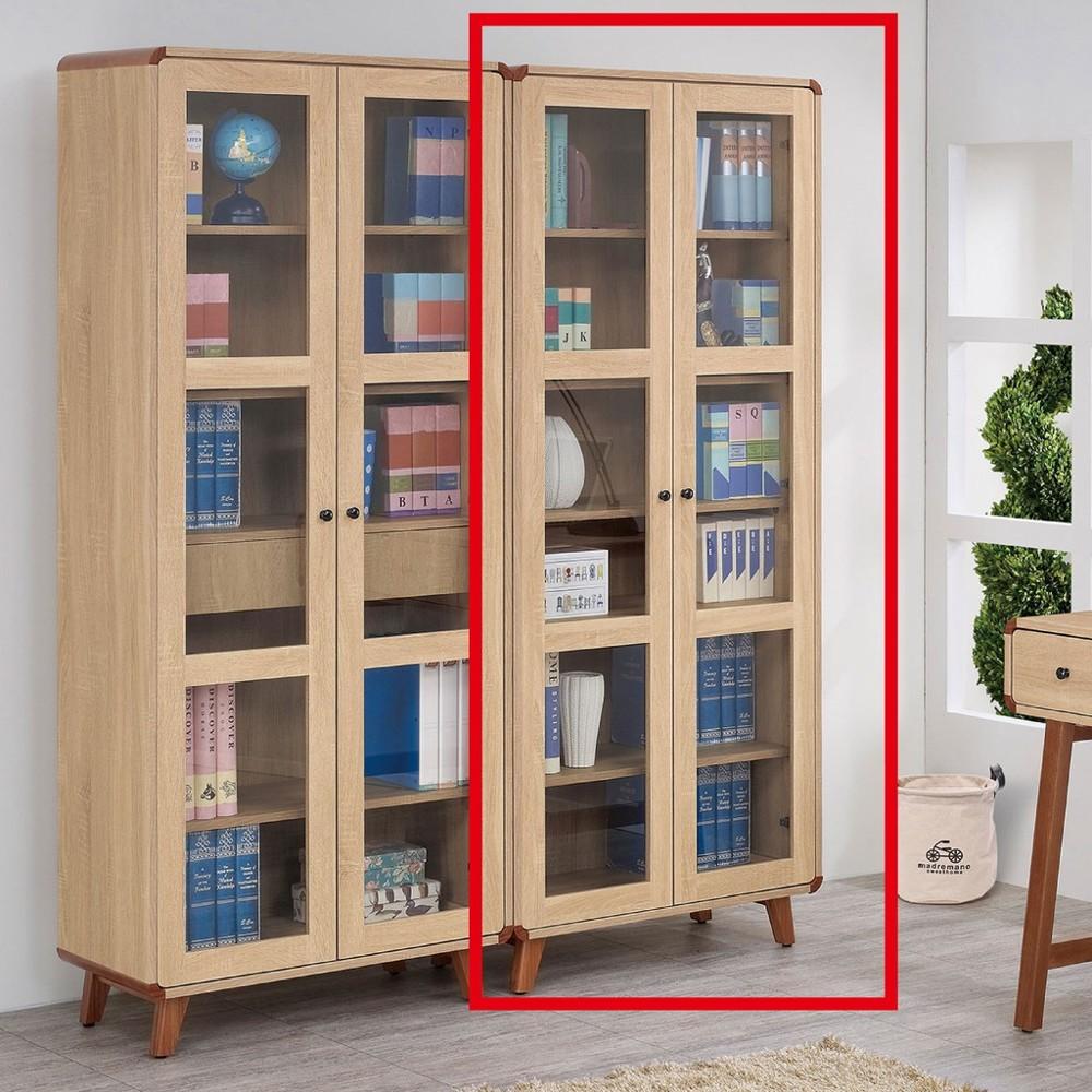 81cm書櫃-a529-6北歐工業 置物櫃 玻璃實木 書房書櫃書架 櫥櫃 層架收納整理 金滿屋
