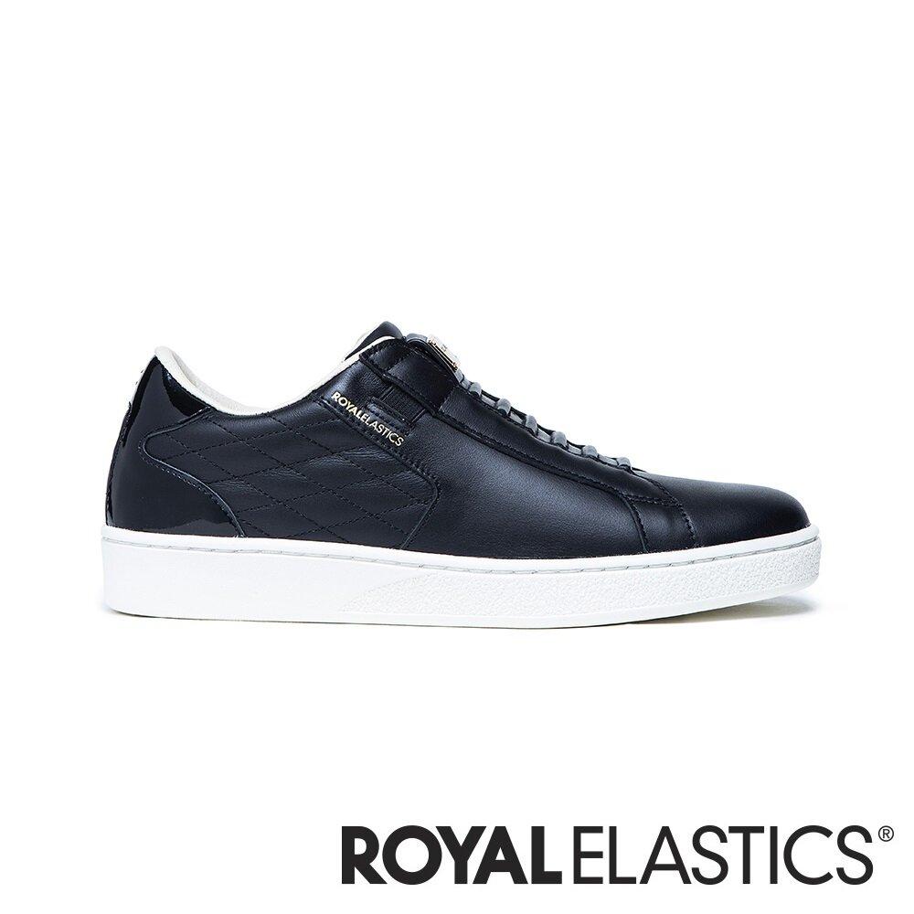 ROYAL ELASTICS Adelaide 黑色真皮時尚休閒鞋 (女) 92711-999