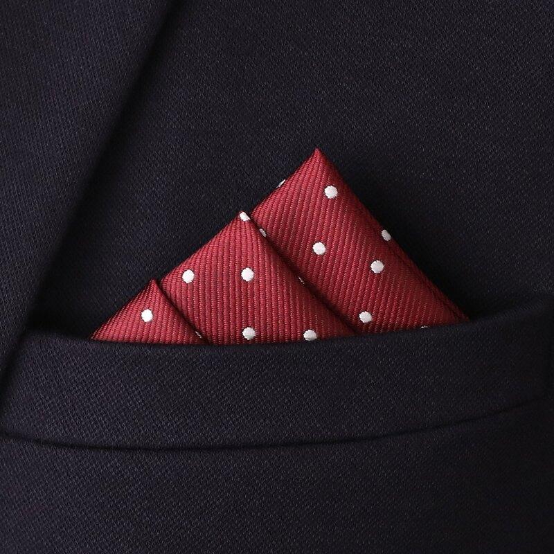 口袋巾 男士西裝口袋小方巾黑白波點白色圓點手帕酒紅絲巾手絹胸兜巾配飾『XY19144』