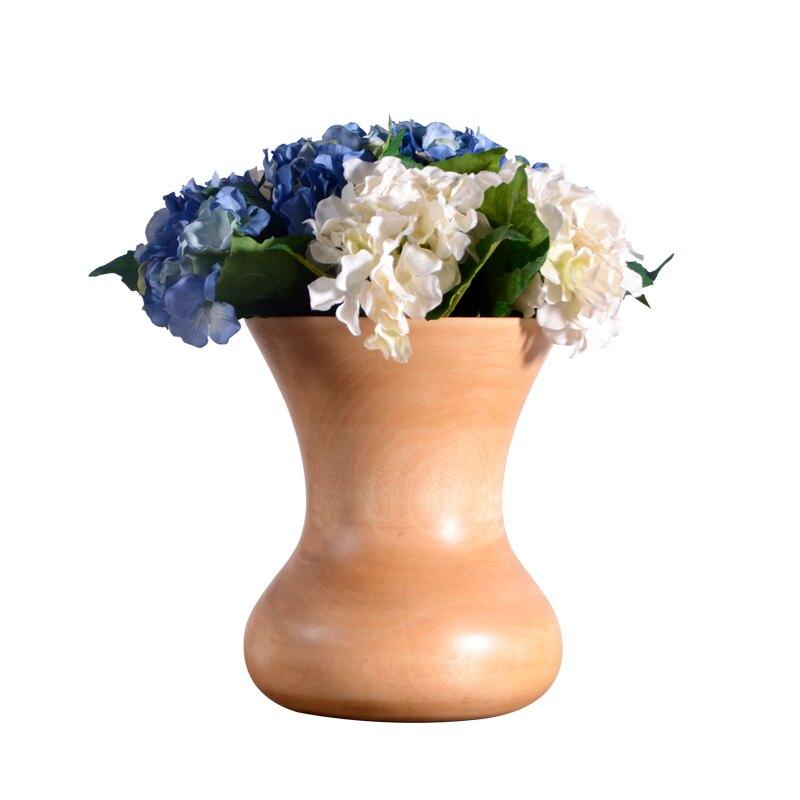 北歐裝飾花瓶實木桌面干花花器擺件創異家居裝飾品樣板房插花花瓶