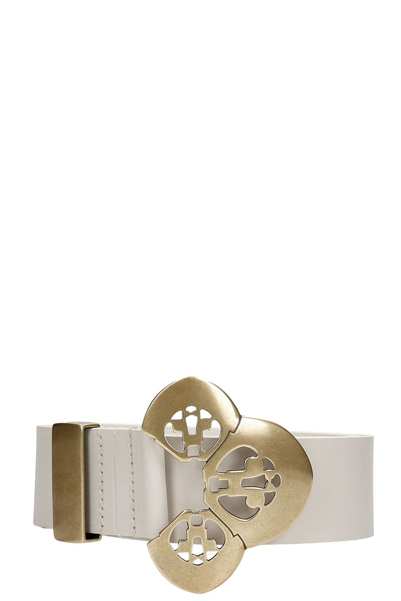 Isabel Marant Adaria Belts In White Leather