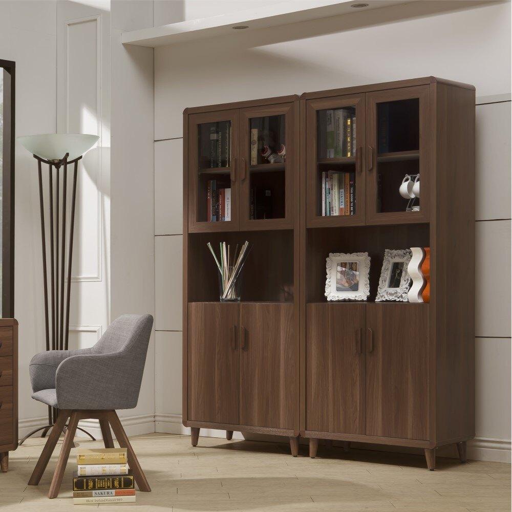 書櫥 木紋北歐書櫃 收藏櫃 收納櫃 玄關櫃 YD米恩居家生活