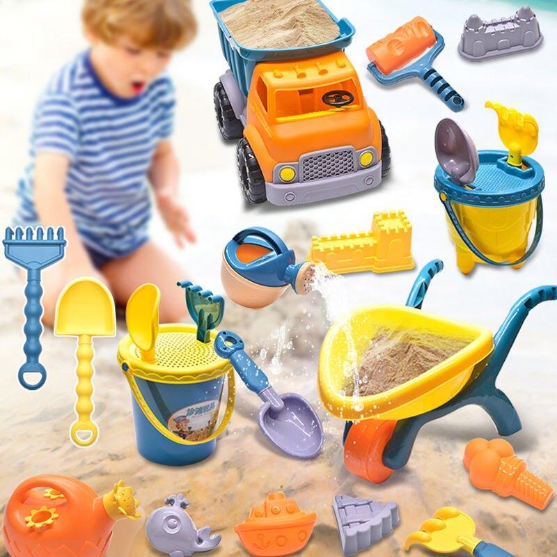 兒童沙灘玩具玩沙寶寶挖沙子套裝鏟子桶挖土工具男孩大號推車海邊