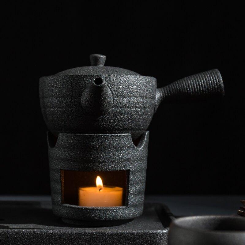 陶瓷煮茶器套裝日式溫茶爐泡茶套組蠟燭加熱底座保溫茶爐禮品茶具