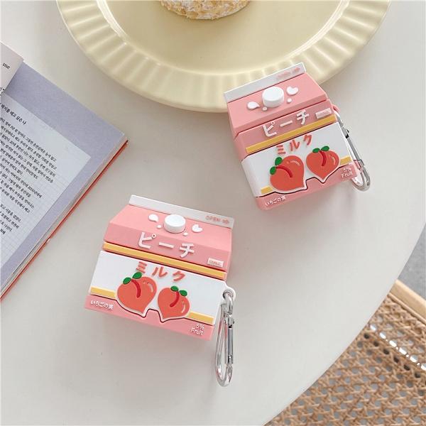 [ Airpods Pro 1/2 ] 水蜜桃牛奶盒 蘋果無線耳機保護套 iPhone耳機保護套