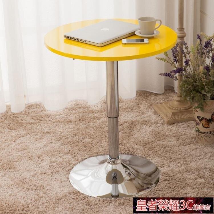 升降桌 小圓桌 固定旋轉桌 餐桌 咖啡電腦桌 洽談桌升降桌小方實木桌吧桌