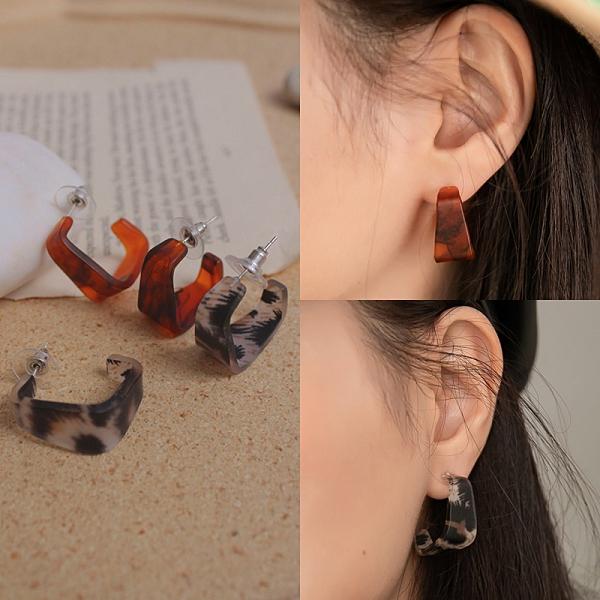 限量現貨◆PUFII-耳環 方形個性撞色耳針式耳環- 0413 現+預 春【CP20128】