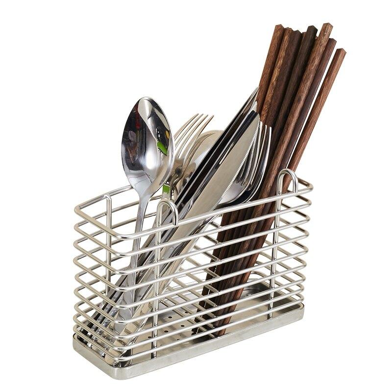 onlycook 掛式筷子架304不銹鋼筷子筒瀝水筷籠壁掛筷架餐具收納架