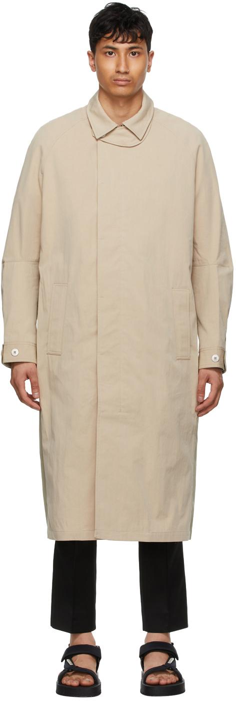 Tom Wood 驼色拼接麦金托什大衣