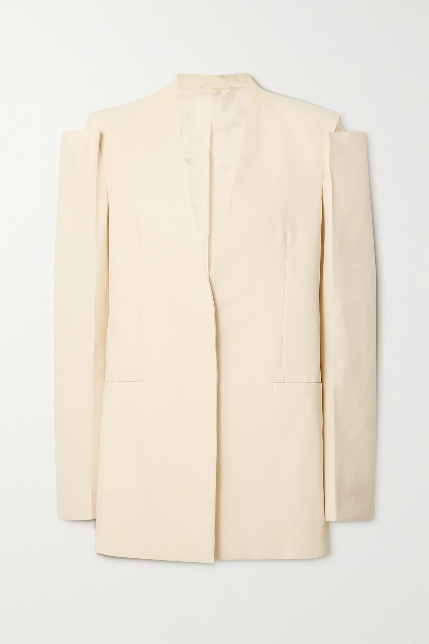 GIVENCHY - Wool Blazer - Neutrals - FR38